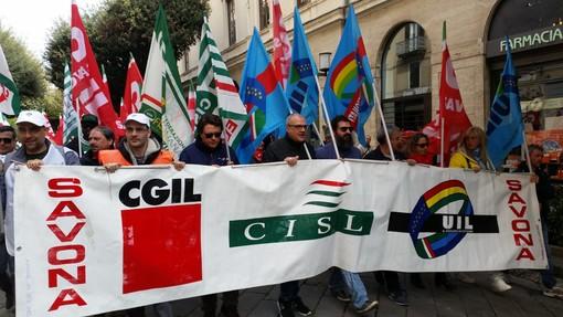 """Savona, manifestazione del Primo Maggio, Maestripieri (Cisl): """"Prima di tutto la dignità del lavoro"""" (FOTO e VIDEO)"""
