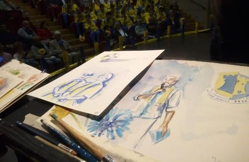 """Lo sport unito all'arte: acquerelli per celebrare i 100 anni di una Cairo tutta """"giallo-blu"""""""