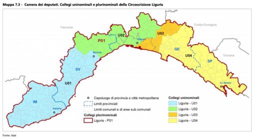 Il referendum sul taglio dei parlamentari cambia la geografia elettorale ligure: savonese spaccato in 2 per la Camera