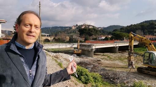 Andora: ripresi i lavori di innalzamento del ponte Europa Unita