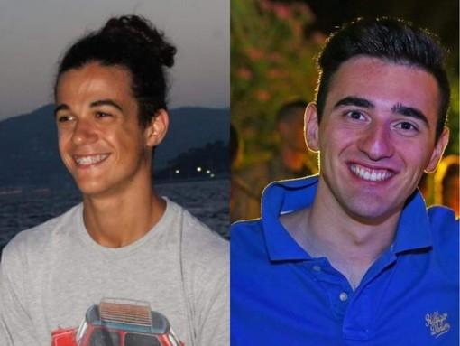 Nella foto i due concorrenti Nicolò Barbieri (a sinistra) e Paolo Pontari (a destra)