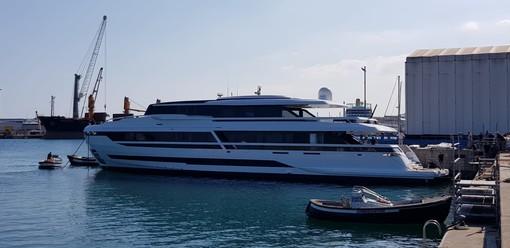Palumbo Superyachts di Savona: varato il nuovo motoryacht EXTRA 130' Alloy