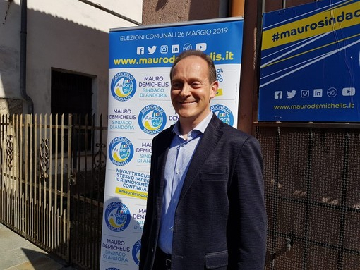 """Mauro Demichelis ufficializza la sua ricandidatura: """"Andora non può tornare indietro"""""""