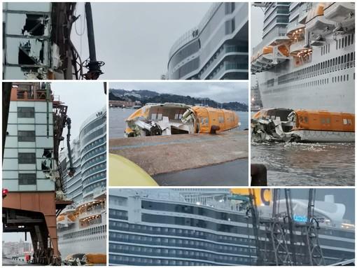 Savona, una valutazione tecnica errata la causa dell'impatto della Costa Smeralda contro la banchina (FOTO E VIDEO)