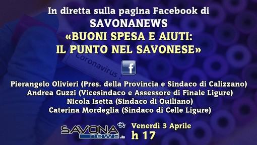 Buoni spesa in provincia di Savona, il punto con gli amministratori alle 17.00