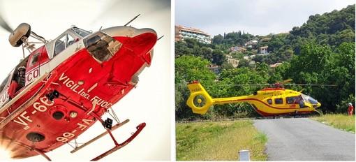"""21 interventi degli elicotteri """"Drago"""" e """"Grifo"""" nella prima settimana di raddoppio del servizio di elisoccorso"""