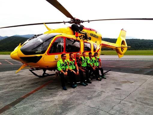 Il servizio di elisoccorso a Villanova d'Albenga prende ufficialmente il via (FOTO e VIDEO)