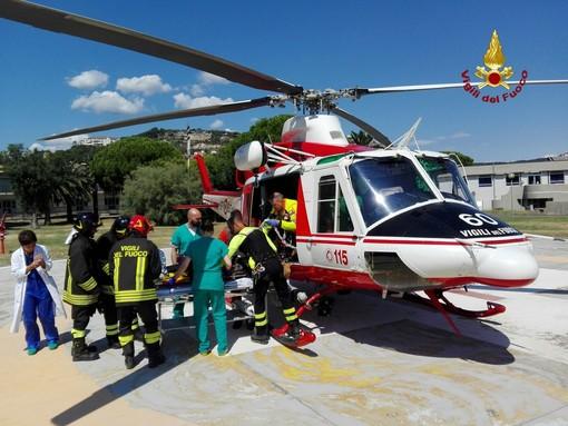 Crollo del ponte Morandi: impegno straordinario anche per il nucleo elicotteri