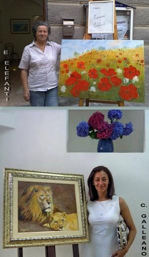 Mostra personale di Eurosia Elefanti e Caterina Galleano nella Gallery Malocello dj Varazze
