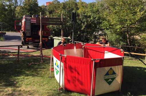 Arnasco, emergenza acquedotto: arrivano le autobotti dei vigili del fuoco per integrare le vasche