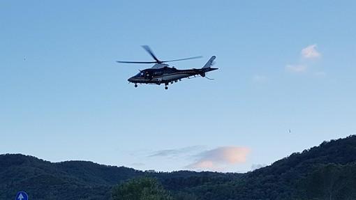 Servizio coordinato di controllo del territorio, elicottero dei carabinieri su Borghetto e comuni limitrofi