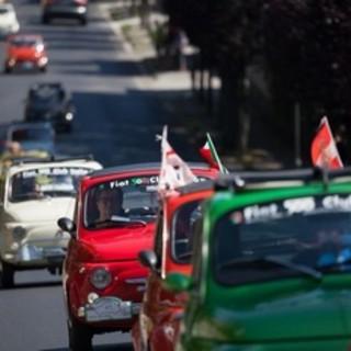 70° anniversario della Nato in Italia: il Fiat 500 Club di Garlenda ospite a Lago Patria