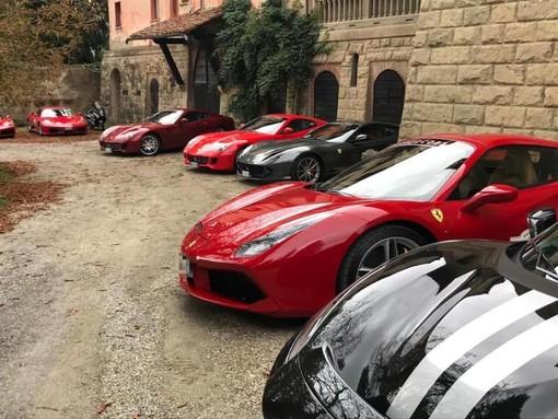 Oltre 20 Ferrari alla scoperta di Millesimo e Calizzano (FOTO)
