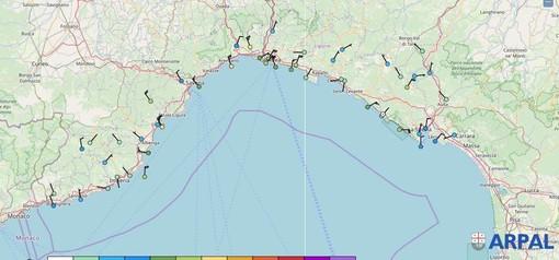 Vento forte nel savonese: raffiche oltre i 100 km/h. L'allerta gialla prosegue fino alle 12 di oggi