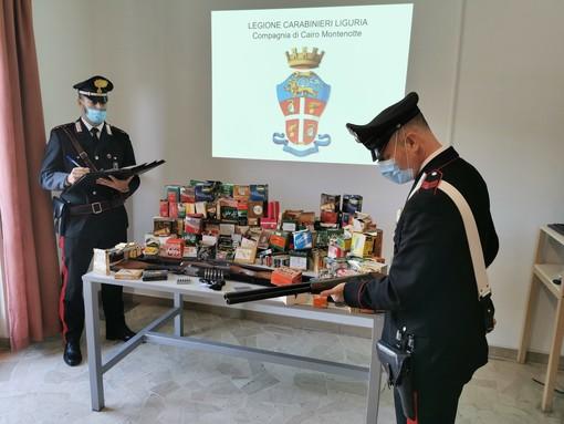 Cairo, eredita dal suocero e dal nonno tre fucili non denunciati: intervento dei carabinieri