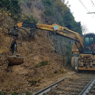 I lavori sulla linea Savona-San Giuseppe del novembre 2019