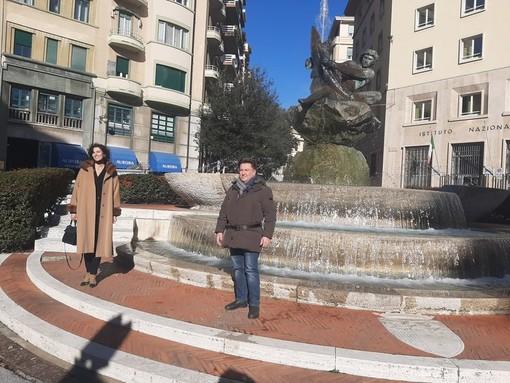 """Restauro Fontana del Pesce, Bruno (Verdi): """"Perché non si valorizza la figura della scultrice Renata Cuneo?"""""""