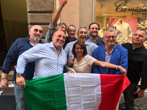 Il gruppo ligure di Fratelli d'Italia a Roma per la manifestazione contro il Governo