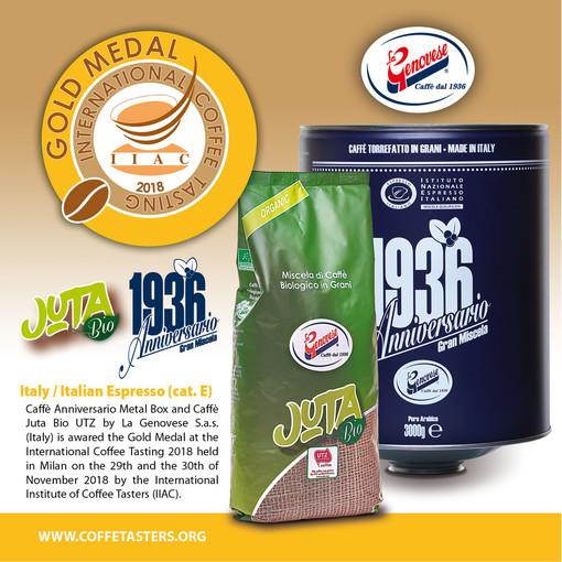 Doppio Oro per i caffè La Genovese di Albenga
