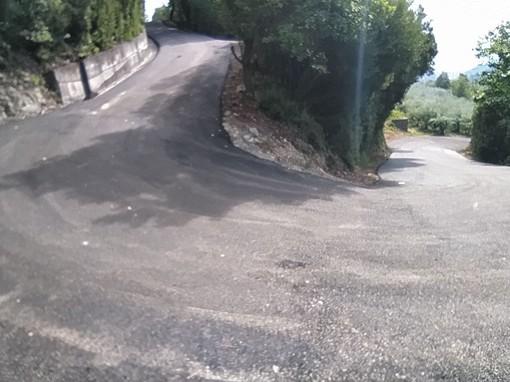 Giustenice, conclusi i lavori di ripristino del manto stradale in via Boetti - località Paolin (FOTO)