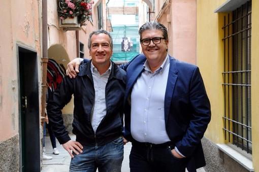 Giovanni Battista Cepollina (a sinistra) col sindaco di Loano Luigi Pignocca (a destra)