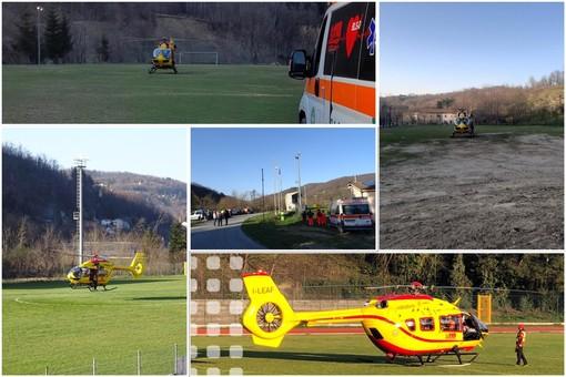Prove di atterraggio e decollo dell'elisoccorso Grifo in Val Bormida: test a Giusvalla, Mallare, Murialdo e Cairo (FOTO)