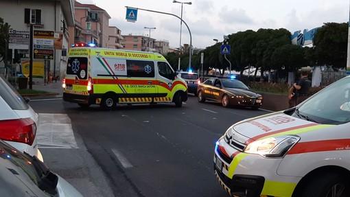 Albissola, schianto moto-auto sulla via Aurelia: due feriti al San Paolo (FOTO)