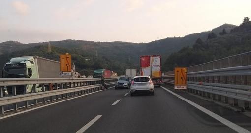 A10, incidente tra Feglino e Spotorno direzione Savona: disagi al traffico (FOTO)