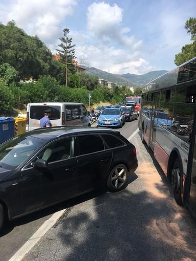 Incidente sulla via Aurelia tra Alassio e Laigueglia (FOTO)