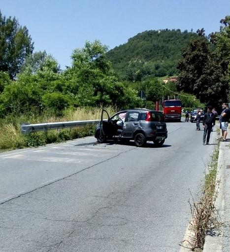 Cosseria, incidente sulla Sp 28 bis: operaio investito da un'auto: codice giallo al San Paolo