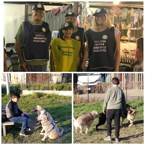 Albenga: Kristian a 10 anni decide di dedicare le sue vacanze agli amici a 4 zampe