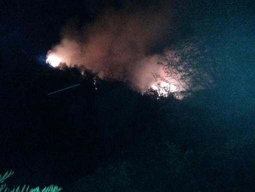Alassio, sotto controllo l'incendio in località Vegliasco