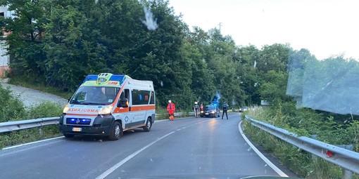 Cade con lo scooter a Cosseria: l'incidente lungo la Sp 28 bis (FOTO)