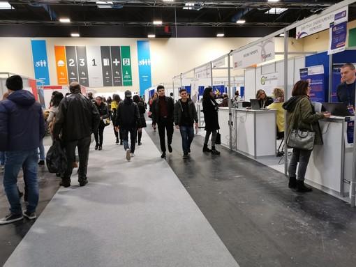 Forte partecipazione di pubblico alla prima giornata di Iolavoro, la job fair giunta alla 23sima edizione e dei Campionati dei Mestieri, Worldskills Piemonte
