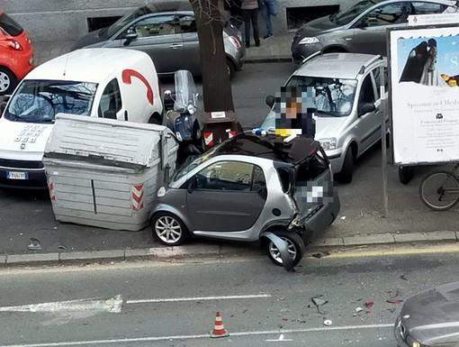 Savona, incidente in corso Giuseppe Mazzini: due veicoli coinvolti (FOTO)