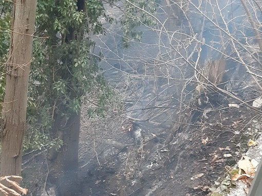 Incendio boschivo ad Alpicella: trovato un corpo carbonizzato (FOTO e VIDEO)