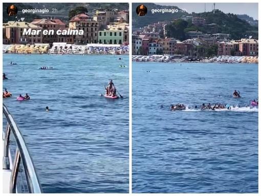 A Celle è Ronaldomania: yacht del campione circondato dai fan, ovazione per Georgina