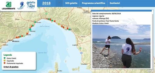 Ceriale e Pietra Ligure, mare fortemente inquinato secondo le analisi di Goletta Verde