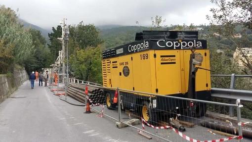 Giustenice, in corso i lavori di messa in sicurezza e sistemazione idrogeologica del tratto di strada comunale Via Costa - San Michele