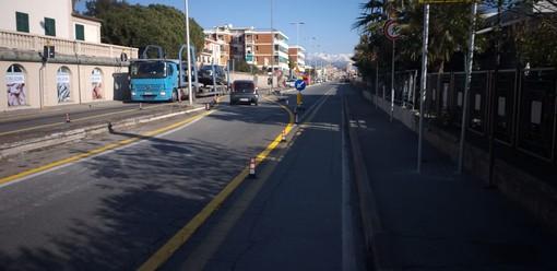 Restyling via Nizza a Savona, partiti i lavori: istituito il doppio senso di marcia lato monte