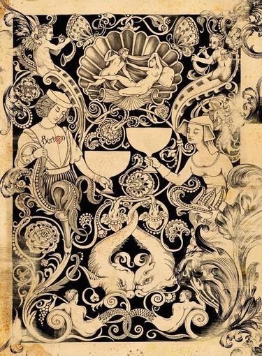 Nella foto: la splendida grafica curata per l'evento finalborghese dall'illustratore Rodolfo Razzi di Burton Studio
