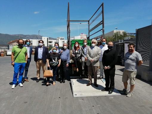 """""""Doniamo la spesa"""": 3 pallet di beni donati grazie all' iniziativa dei Lions di Albenga"""