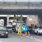 Albisola, lavori di Autostrade sul viadotto in corso Mazzini: previsti due mesi di interventi (FOTO)