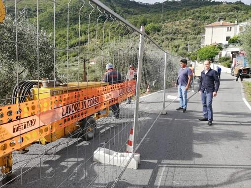 Andora, al via i lavori di messa in sicurezza della strada comunale di Conna