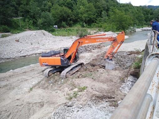 Murialdo, via ai lavori per la ricostruzione del ponte delle Fucine (FOTO)