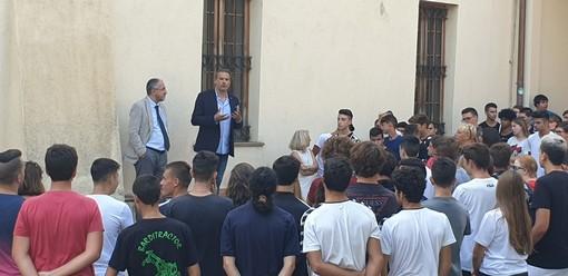 Albenga, l'assessore regionale Stefano Mai all'Istituto Agrario per l'avvio dell'anno scolastico