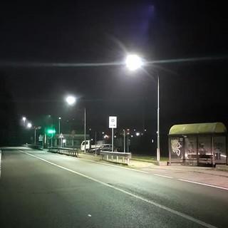 Carcare: nuova illuminazione sulla Sp 29 tra il capoluogo e la frazione Vispa
