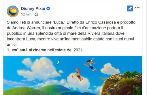 """Disney Pixar annuncia """"Luca"""", un film ambientato in una città di mare italiana: sarà in Liguria?"""