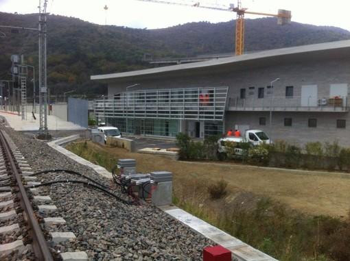 Immagine di repertorio: i lavori alla nuova stazione ferroviaria andorese nel 2016
