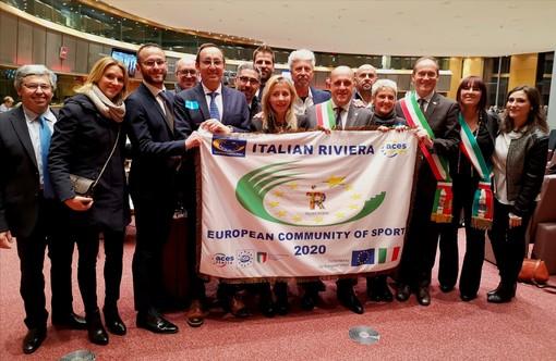 """A Bruxelles il battesimo ufficiale di """"Italian  Riviera Community Europea dello Sport 2020"""""""